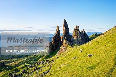 Old Man of Storr Rock Formations, île de Skye, en Ecosse