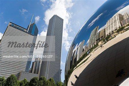 Cloud Gate monuments et bâtiments, Chicago, Illinois, USA