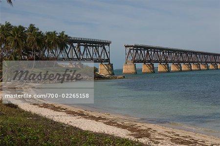 Pont de rivage, Bahia Honda State Park, Florida Keys
