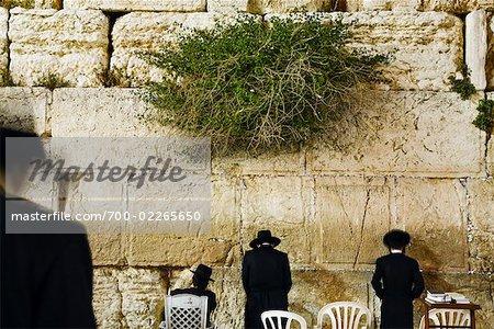 Nos gens au mur des lamentations, Jérusalem, Israël