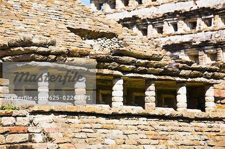 Old ruins of a building, El Tajin Veracruz, Mexico