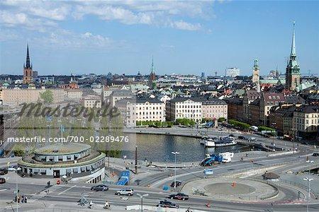 Slussen and Stadsholmen, Gamla Stan, Stockholm, Sweden