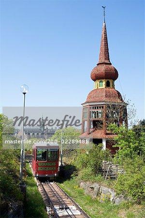 Funicular at Skansen, Djurgarden, Stockholm, Sweden