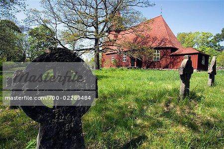 Seglora Church and Cemetery, Skansen, Djurgarden, Stockholm, Sweden