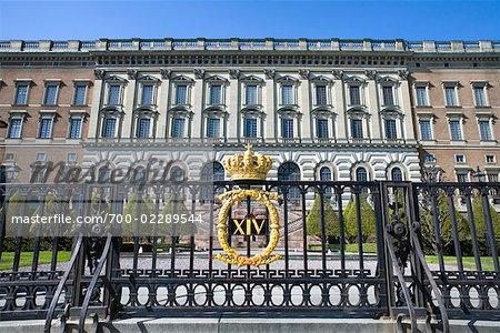 Gates at Stockholm Palace, Stadsholmen, Gamla Stan, Stockholm, Sweden