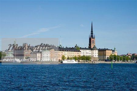 View of Riddarholmen From Kungsholmen, Gamla Stan, Lake Malaren, Stockholm, Sweden