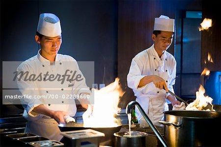 Des chefs, Restaurant Parkview, Shilla Seoul Hotel, Séoul, Corée du Sud