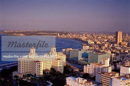 Vue aérienne de la Havane, Cuba