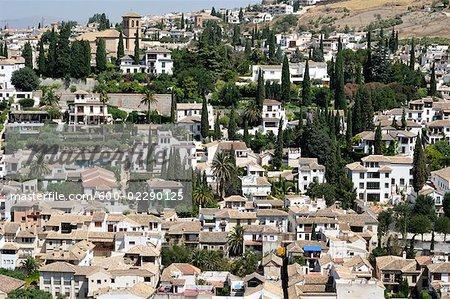 Overview of City, Albaycin, Granada, Spain