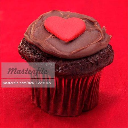 Gâteau au chocolat Saint-Valentin