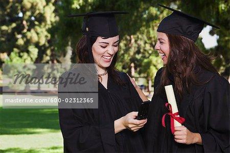 Graduates with Cellular Phone
