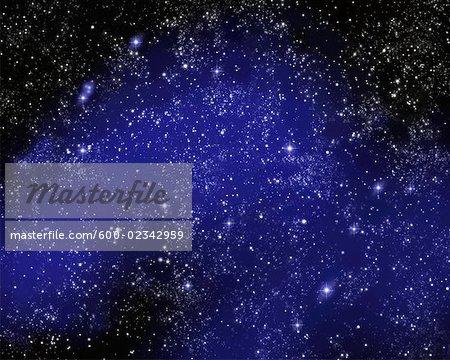 Constellation des Gémeaux dans le ciel nocturne