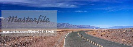 Indiquer la Route 190, Death Valley, Californie, USA