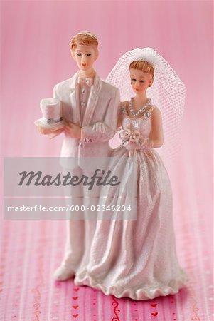 Mariée et le marié gâteau Topper