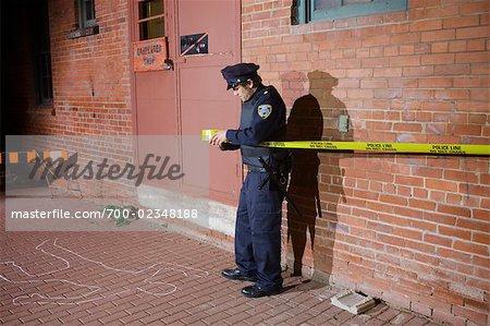 Policier marquage Crime Scene, Toronto, Ontario, Canada