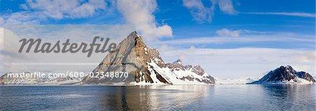 Panoramablick Hornsund Eis bleibt, Norwegen