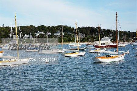 Boats at Vineyard Haven Harbor, Martha's Vineyard, Massachusetts, USA