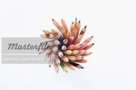 Still Life of Pencil Crayons