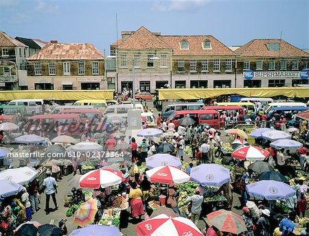 Granada, Saint George's, market square