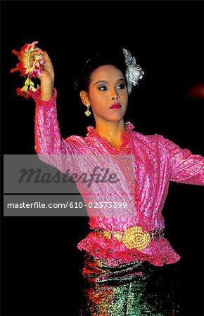 Thailand, Bangkok, folk dance, young girl