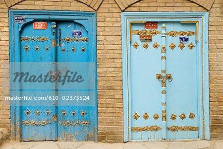 Chine, Xinjiang, kashgar, vieille ville, portes