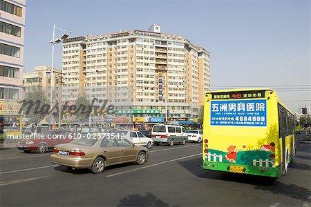China, Xinjiang, Urumqi, trafic