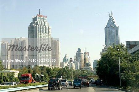 Chine, Xinjiang, Urumqi, paysage urbain