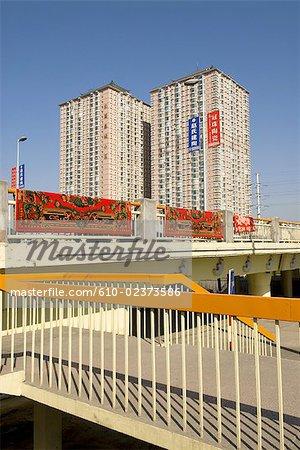 China, Xinjiang, Urumqi, habitations buildings