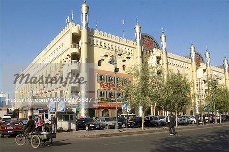 China, Xinjiang, Urumqi, commercial center