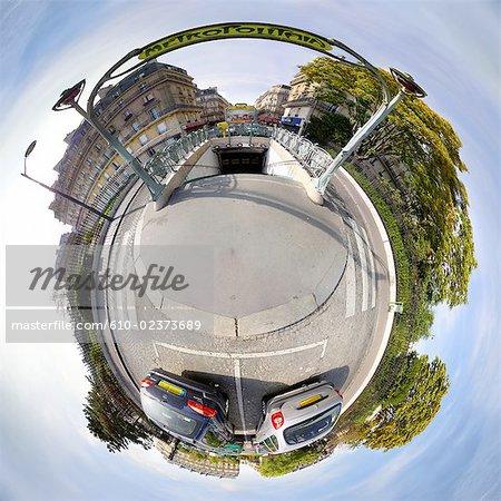 Digital creation: Paris, metro station