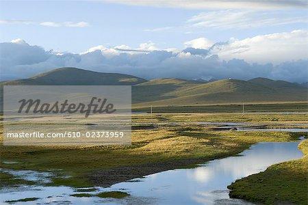Paysage l'est du Qinghai, Chine