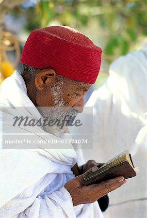 Éthiopie, prêtre de région, Lalibela, Wollo