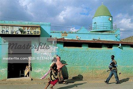 Scène de rue de Harar, en Éthiopie,