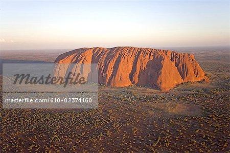 Photographie aérienne de territoire du Nord, l'Australie, Uluru-kata Tjuta national park, Ayers Rock,