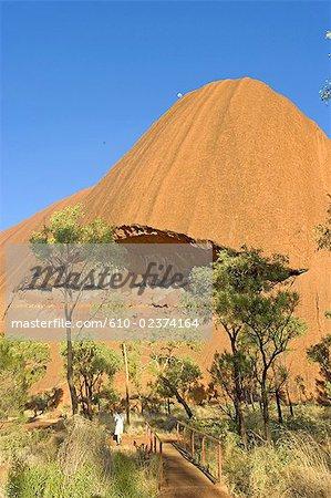 En Australie, Northern Territory, Uluru-kata Tjuta national park, Ayers Rock, détail