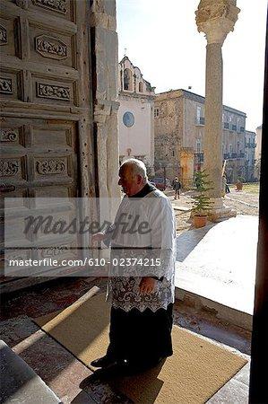 Italie, Sicile, Cefalù, la procession de San Giuseppe
