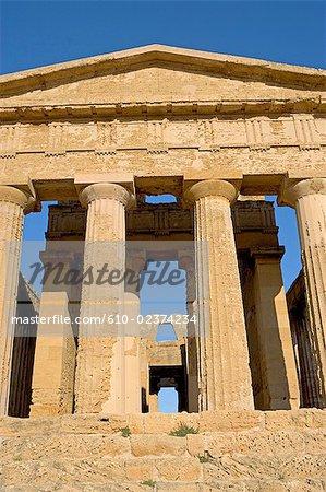 Italy, Sicily, Agrigente, concordia greek temple