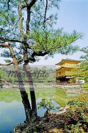 Pavillon d'or au Japon, Kyoto,