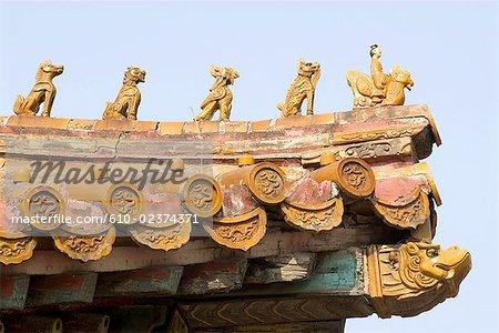 China, Beijing, Forbidden City, architectural detail