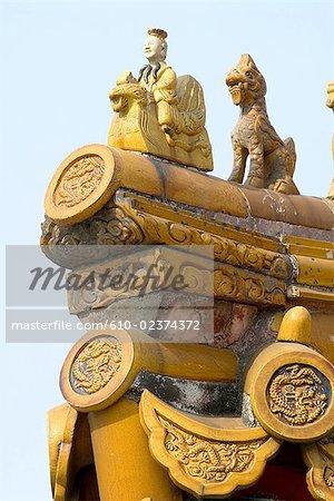 Chine, détails architecturaux de Pékin, cité interdite,