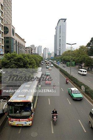 China, Guizhou, Guiyang, urban highways
