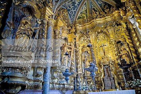 Cathédrale, autel de Portugal, Madeira, Funchal,