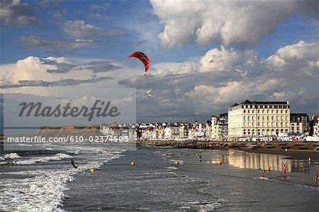 France, Pas-de-Calais, Opal Coast, Wimereux beach