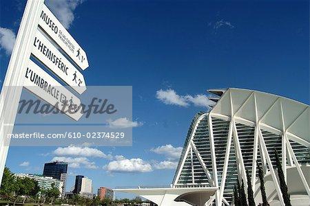 Spain, Valencia, city of arts and sciences, science museum Principe Felipe