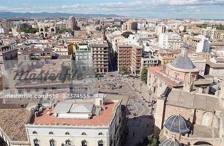 Spain, Valencia, Plaza de la Virgen, general view