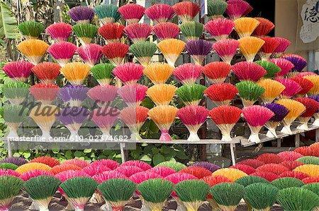 Vietnam, Hue, incense factory.