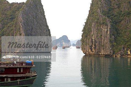 Vietnam, la baie d'Halong.