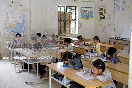 Vietnam, Sappa, school, interior.