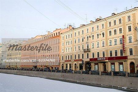Russie, Saint-Pétersbourg, le Canal Griboïedov.