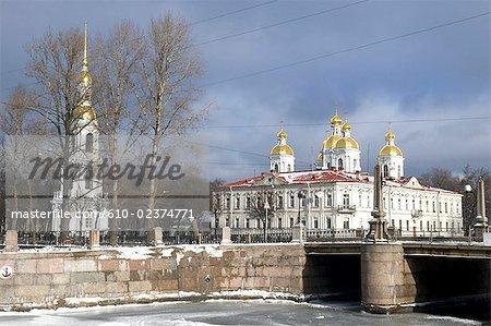 Cathédrale navale de Saint Nicolas, Saint-Pétersbourg, la Russie.